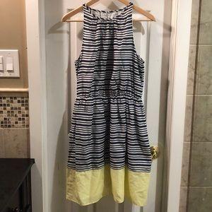 OLD NAVY midi striped dress